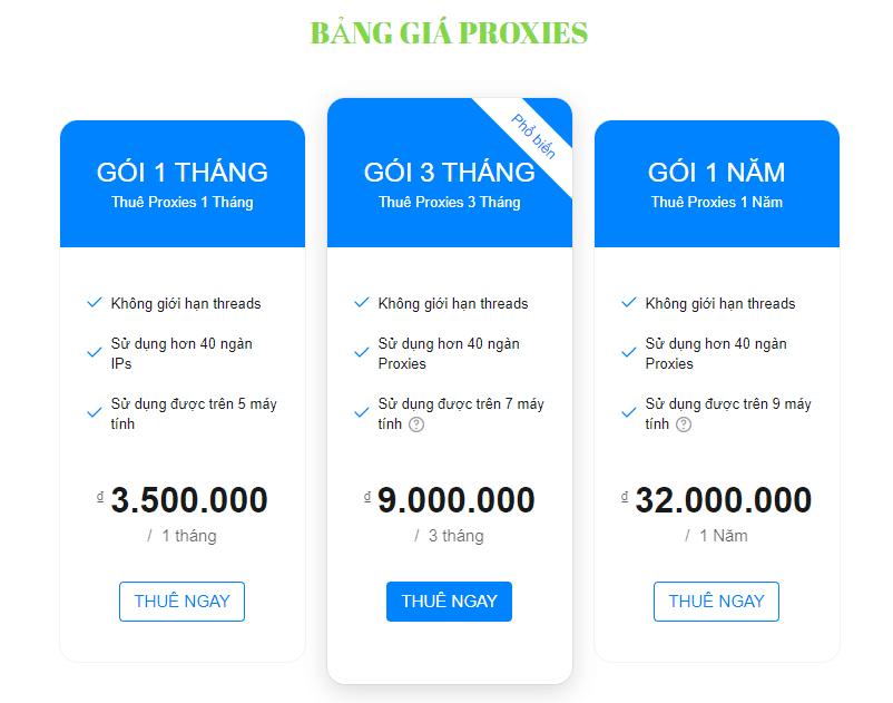 Dịch Vụ Cho Thuê Proxy Việt Nam Rẻ Nhất