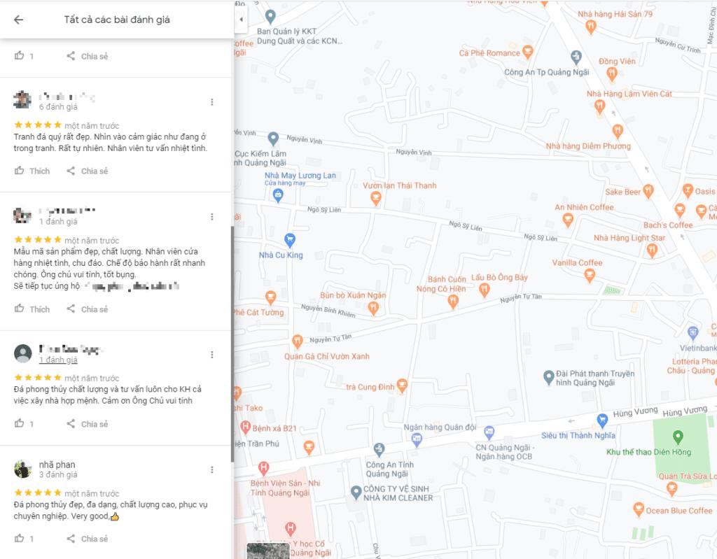 Dịch vụ đánh giá google map