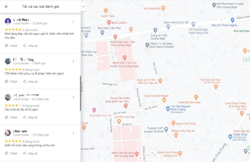 tăng đánh giá google map