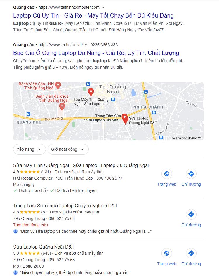 bị đánh giá xấu google