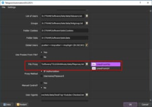 Lựa chọn Proxy - Phần mềm Telegram