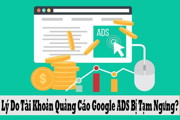Google ads bị tạm ngưng