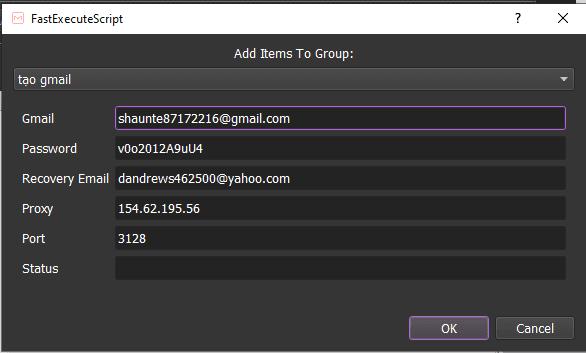 Tạo Gmail Hàng Loạt
