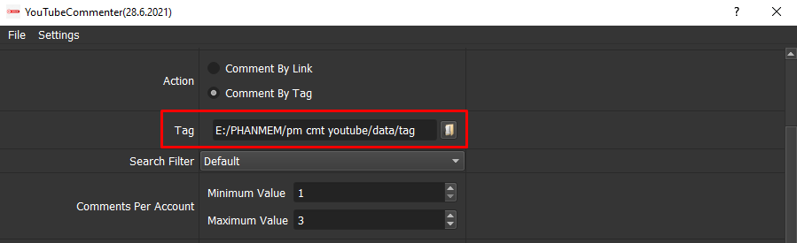 phần mềm bình luận Youtube