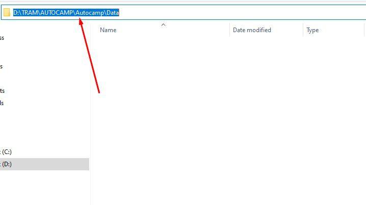 """Copy link đường dẫn của thư mục """"Data"""" vừa tạo"""