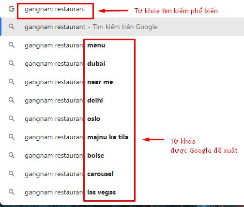 Tăng Từ Khóa Đề Xuất lên google